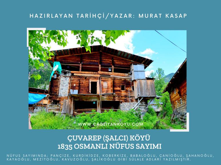 1835 Yılı Çuvarep (Şalcı) Köyü Osmanlı Nüfus Sayımı